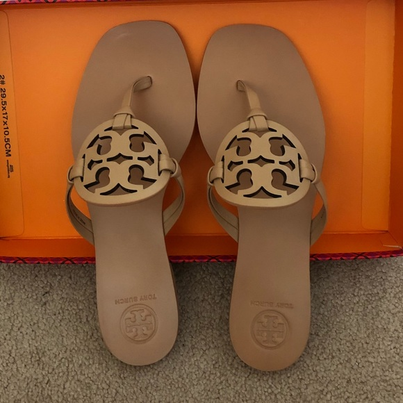 7cb7f6a70b9c5 Tory Burch Square Toe Miller Sandals